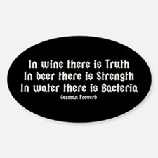 German Proverb IV Decal