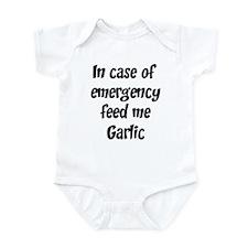 Feed me Garlic Infant Bodysuit
