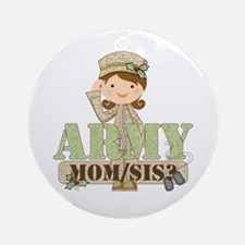 Christmas Army Soldier Ornament (Round)