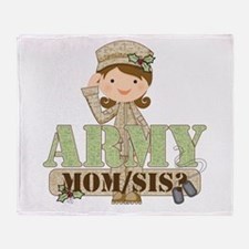 Christmas Army Soldier Throw Blanket