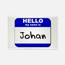 hello my name is johan Rectangle Magnet
