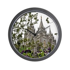 Salt Lake Temple Spring Wall Clock