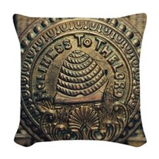 Holiness To The Lord Woven Throw Pillow