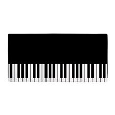Piano Key Beach Towel