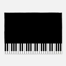 Piano Key 5'X7'area Rug