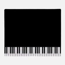 Piano Key Throw Blanket