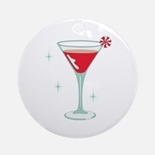 Christmas Cocktail Ornament (Round)