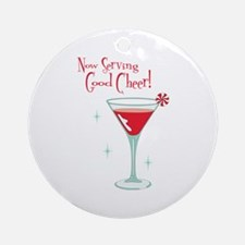 Now Serving Good Cheer! Ornament (Round)
