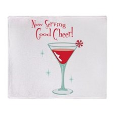 Now Serving Good Cheer! Throw Blanket