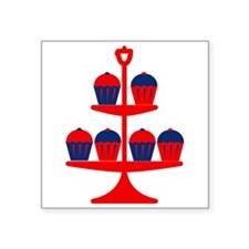 Red Cupcake Stand Sticker