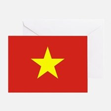 Vietnam Flag Greeting Card