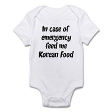 Feed me Korean Food Infant Bodysuit