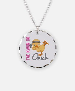Tae Kwon Do Chick 2 Necklace Circle Charm