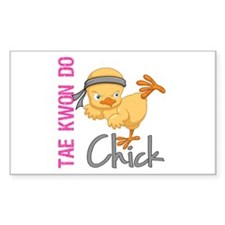Tae Kwon Do Chick 2 Decal