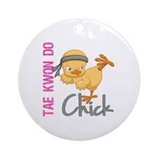 Tae Kwon Do Chick 2 Ornament (Round)