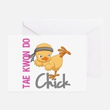 Tae Kwon Do Chick 2 Greeting Card