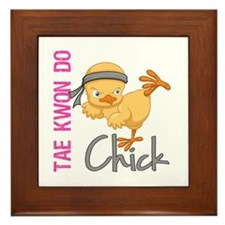 Tae Kwon Do Chick 2 Framed Tile
