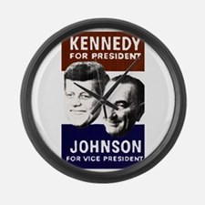 JFK-Johnson Large Wall Clock