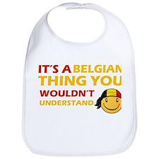 Belgian smiley designs Bib