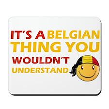 Belgian smiley designs Mousepad