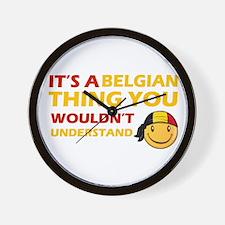 Belgian smiley designs Wall Clock
