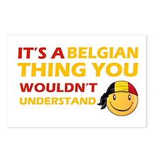 Belgian smiley designs Postcards (Package of 8)