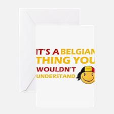 Belgian smiley designs Greeting Card