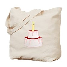 Cake With Candle Tote Bag