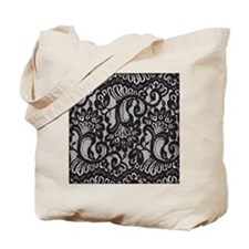 Black Lace Tote Bag