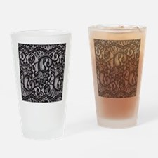 Black Lace Drinking Glass