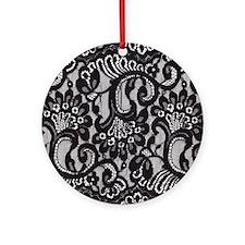 Black Lace Ornament (Round)