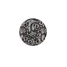 Black Lace Mini Button