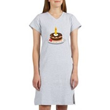 Cake With Candle Women's Nightshirt
