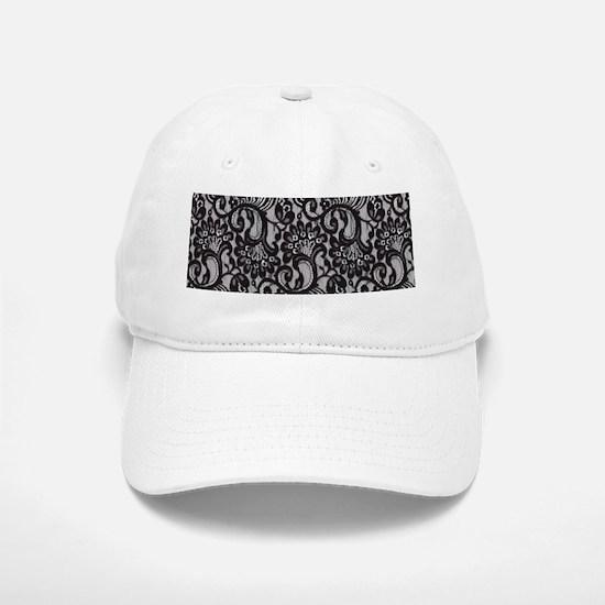 Black Lace Baseball Baseball Cap