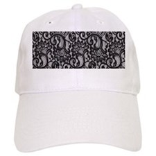 Black Lace Baseball Cap