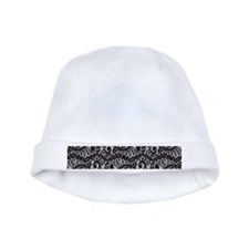 Black Lace baby hat