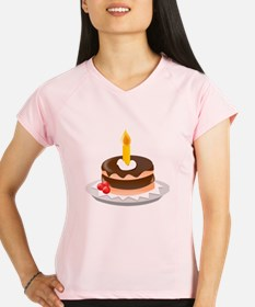 Cake With Candle Performance Dry T-Shirt