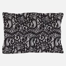 Black Lace Pillow Case