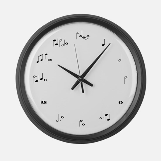 Music notes musician time Large Wall Clock