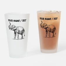 Custom Elephant Sketch Drinking Glass