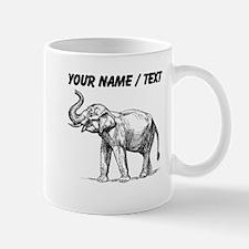 Custom Elephant Sketch Mugs