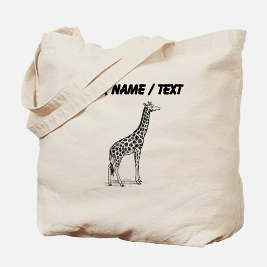 Custom Giraffe Sketch Tote Bag