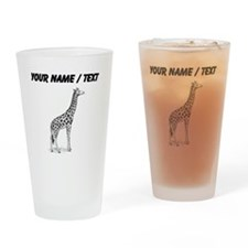 Custom Giraffe Sketch Drinking Glass