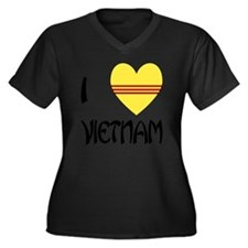 I Love Vietn Women's Plus Size Dark V-Neck T-Shirt