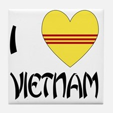 I Love Vietnam Tile Coaster