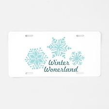 Winter Wonderland Aluminum License Plate