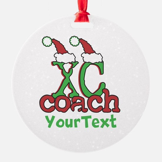 Customize XC Coach Holiday Ornament