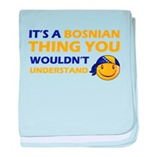 Bosnian smiley designs baby blanket
