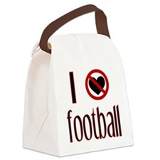 I Hate Football Red and Black Canvas Lunch Bag