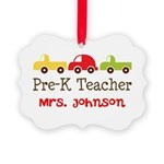 Personalized Preschool Teacher Ornament